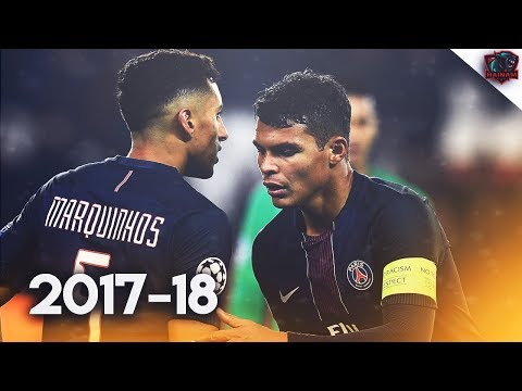 Thiago Silva & Marquinhos - Brazillian Duo - Defensive Skills | 2017/18 HD