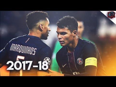 Thiago Silva & Marquinhos - Brazillian Duo - Defensive Skills | 2017/18 HD
