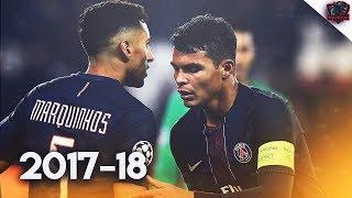Thiago Silva & Marquinhos - Brazillian Duo - Defensive Skills   2017/18 HD