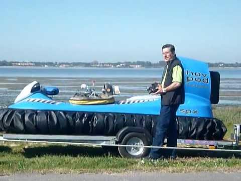 Camoesas RC Hovercraft on Real Hov Pod.MOV