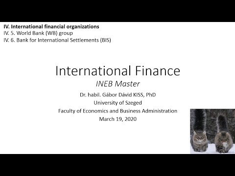 International Finance - IV. 6. Bank For International Settlements (BIS)