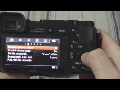 Sony A6000: How to change the language back to English
