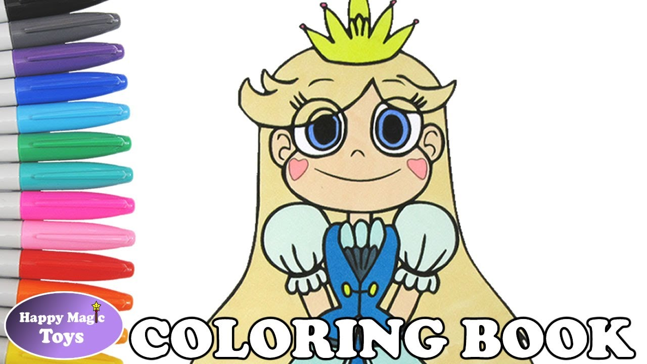 star vs the forces of evil coloring book pages star butterfly