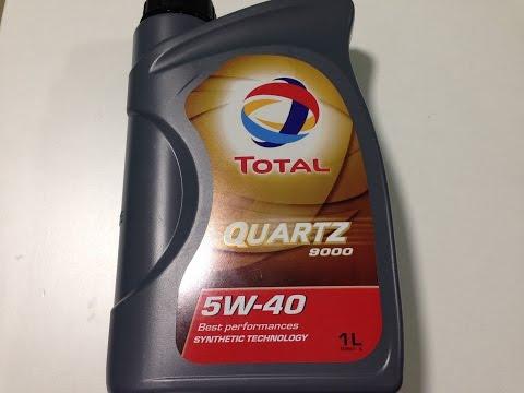 Тест моторного масла Total Quartz 9000 5w-40 (Тотал кварц)