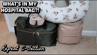WHAT'S IN MY HOSPITAL BAG!? // REPEAT C-SECTION // BABY NUMBER 4 // MAMA APPROVED