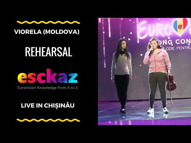 ESCKAZ in Chișinău: Viorela - The Gates of Love (rehearsal)