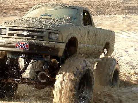 Huge 4x4 Mud Trucks Blastin Through The Trails