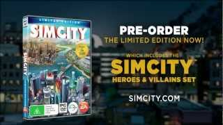 SimCity Limited Edition - Heroes & Villains Trailer (coming March 7, 2013)