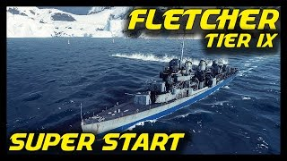 ► World of Warships Fletcher Beast Mode: Epic Action in Tier 9 US Navy Destroyer
