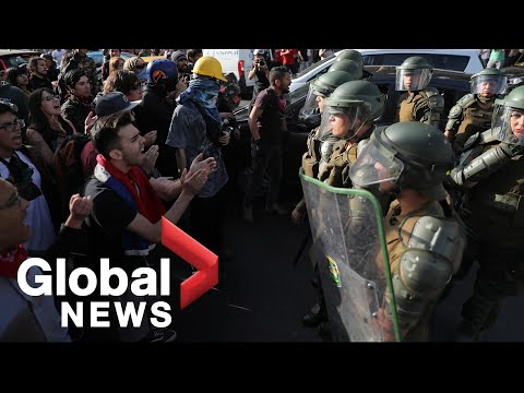 Chile protests: Police face off with protesters as tensions flare in Santiago