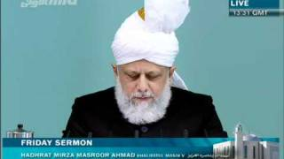 (German) Friday Sermon 28th January 2011 - Islam Ahmadiyya
