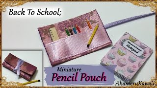 Back To School; Miniature roll up Pencil Pouch & Ruler - Fabric/wood tutorial