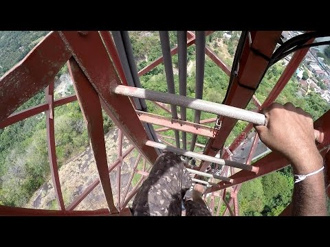 Telecommunication tower climbing