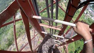 Telecommunication tower climbing