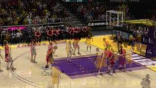 PS3 NBA 2K10 - Raptors Vs. Lakers Highlights/Gameplay (5 mins)