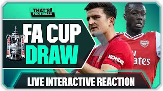 Live Fa Cup Semi Final Draw Reaction With Mark Goldbridge