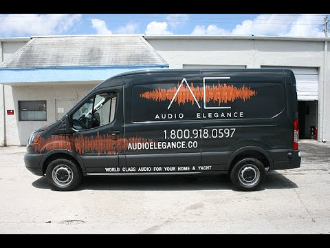 Ford Transit Van Vinyl Wrap Advertising Fort Lauderdale Florida By