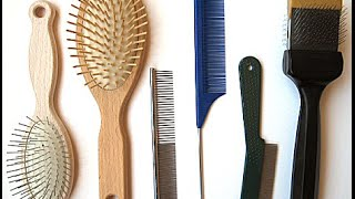 ASMR Relaxing Hair Brush And Comb Sounds