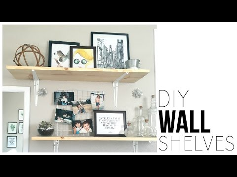 How to build a shelf with brackets