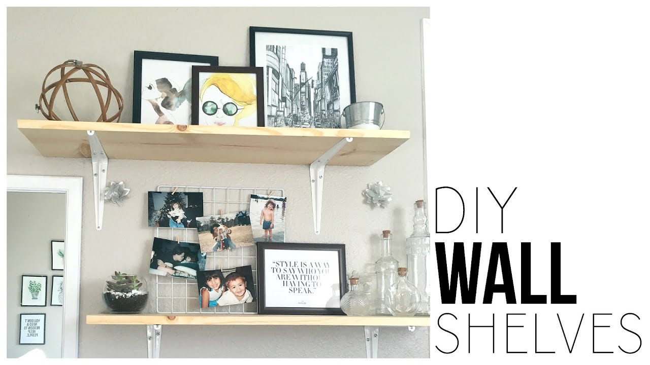 Diy wall shelves make shelves for under 13 youtube amipublicfo Image collections