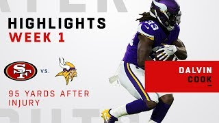 Dalvin Cook's 95-Yard Game after Returning from 2017 Injury
