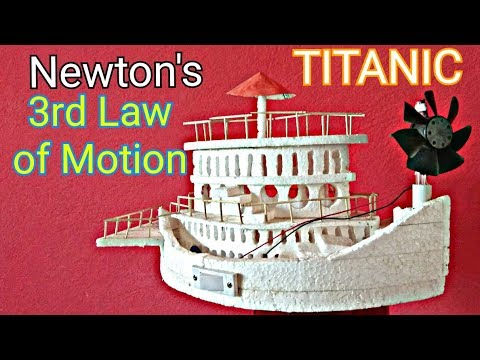Newton's 3rd Law of motion - science working  model.