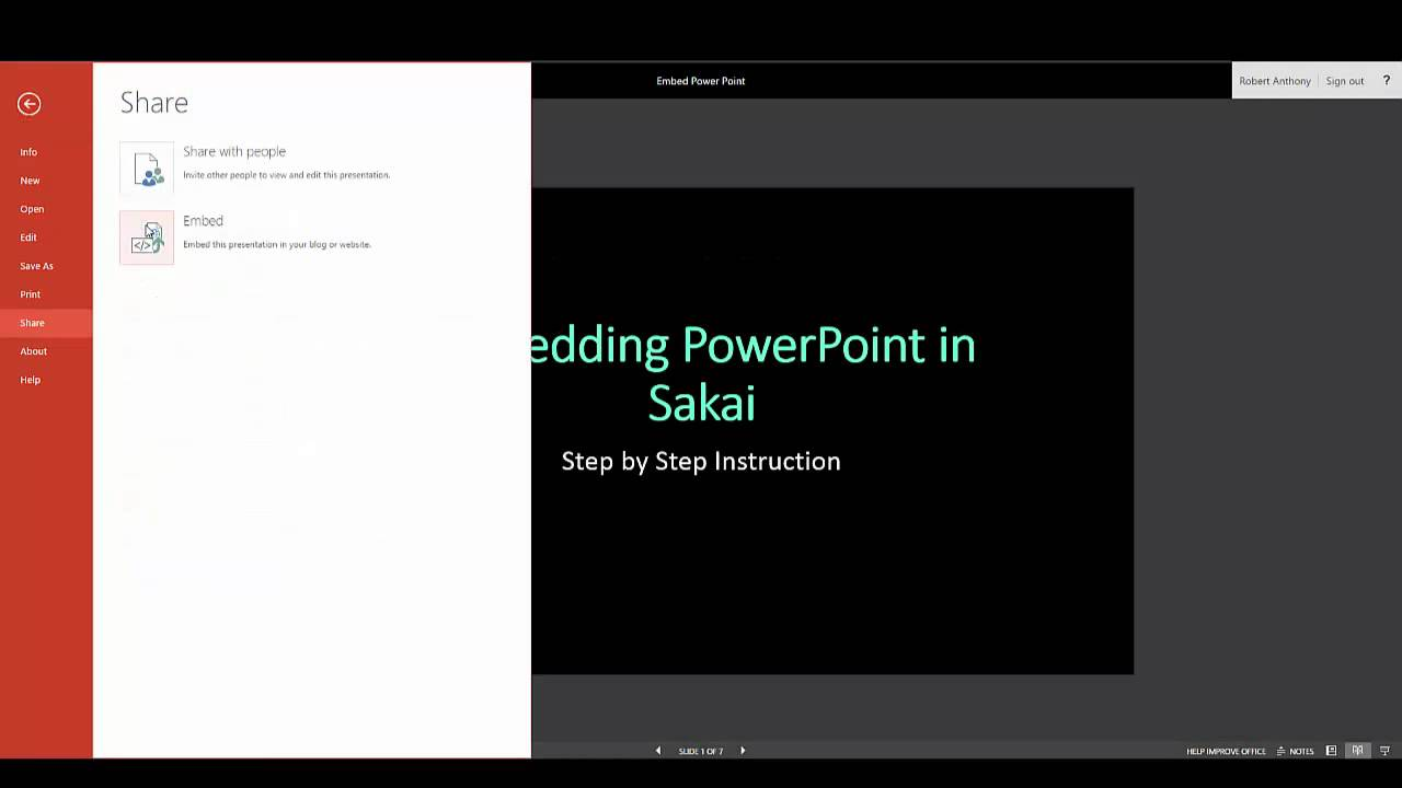 embedding powerpoint presentations in sakai youtube