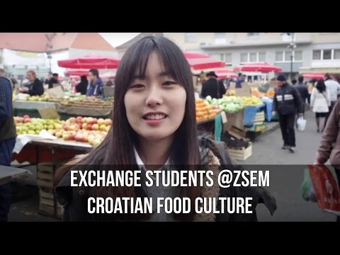 EXCHANGE STUDENTS AT ZSEM: ABOUT CROATIAN FOOD CULTURE
