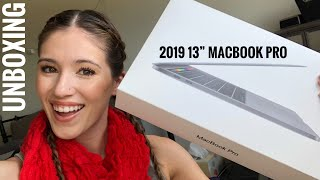 2019 13 inch MacBook Pro with Touchbar Unboxing | Space Grey | Kaila Hoover