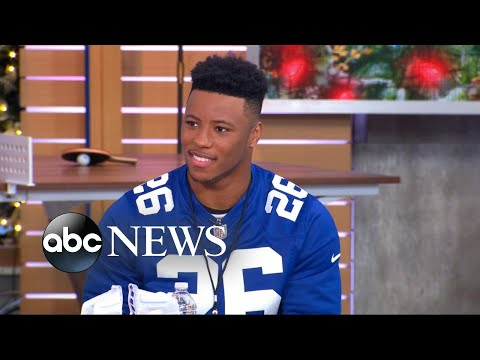 New York Giants running back Saquon Barkley is our new 'GMA Day' 'intern'