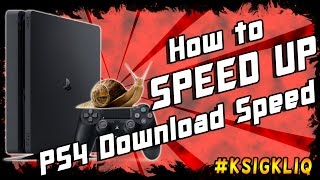 PS4 Slow Download Speed How to Speed UP Easy Trick