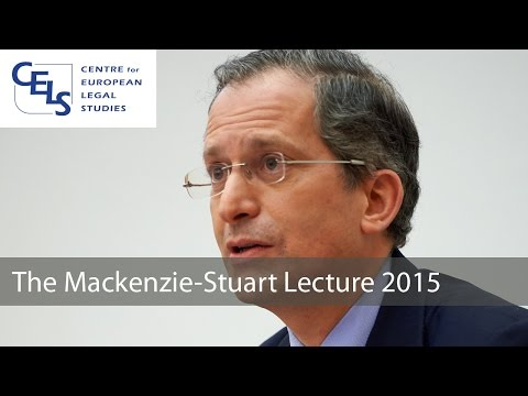 'Facing Legal Challenges in US - EU Relations': 2015 Mackenzie Stuart Lecture