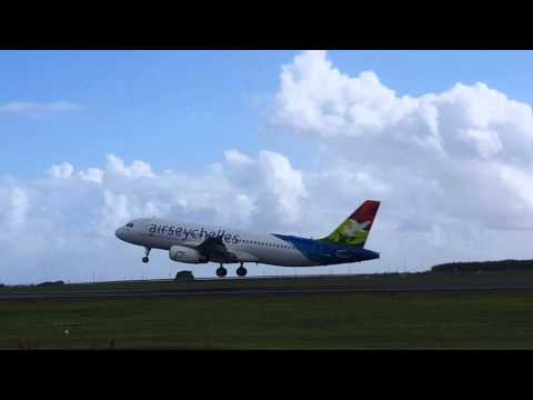 Air Seychelles Take off from Mauritius to Seychelles