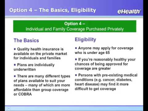 Individual Health Insurance and Family Medical Plans: PART ...
