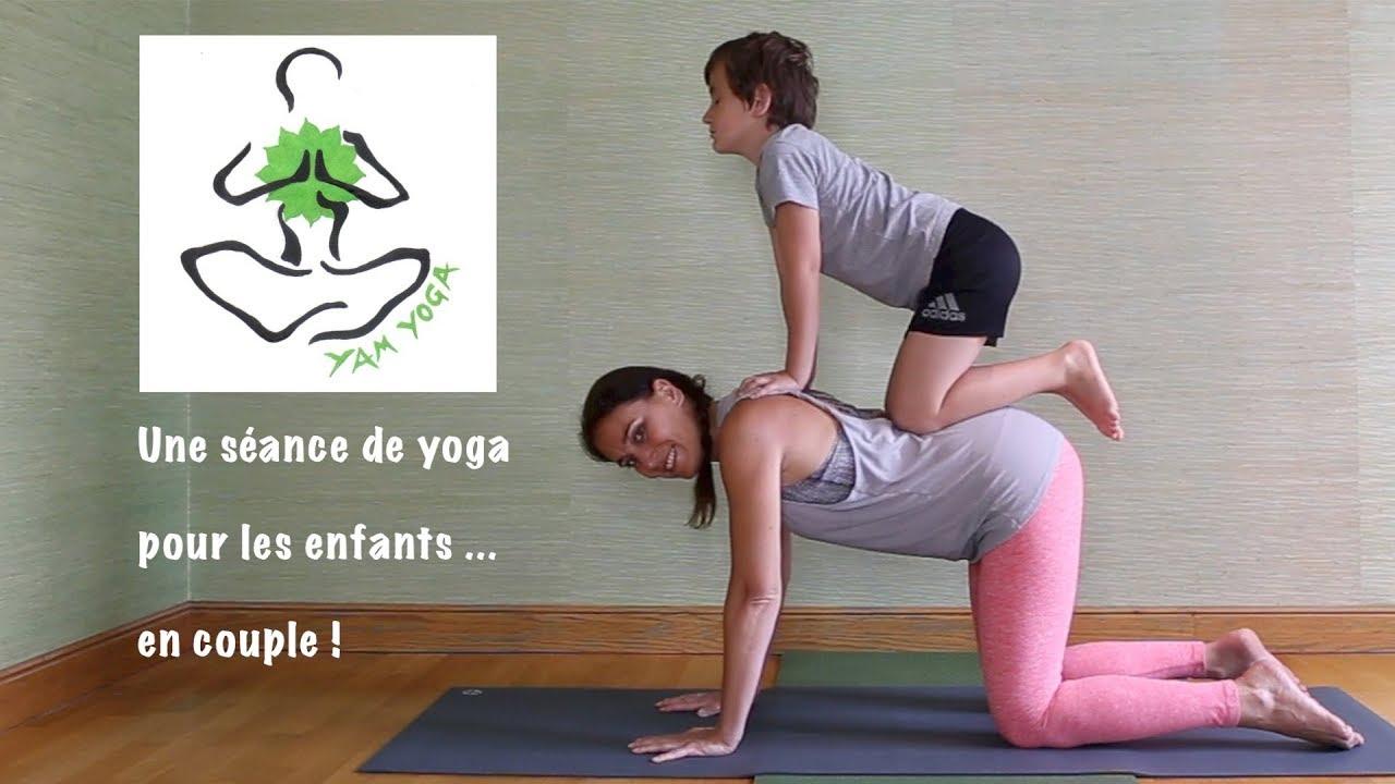 Pratique 20 - Une séance de yoga pour les enfants… en couple! Emmanuelle  YamYoga 1e8d83a216f