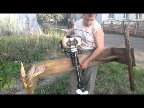Лодочный мотор из мотокосы