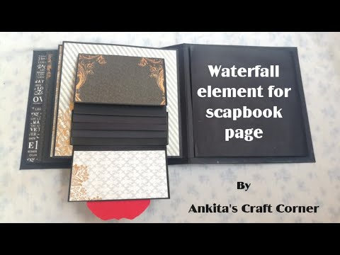 Waterfall card | Scrapbook page ideas | Pop-up Album | Scrapbook Card | Scrapbook element