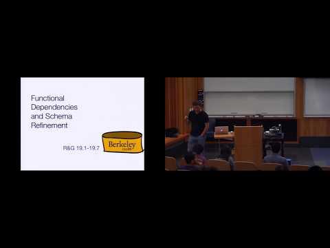 L13 Functional Dependencies and Schema Refinement   UC Berkeley CS 186, Spring 2015