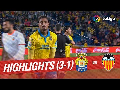 Resumen de UD Las Palmas vs Valencia CF (3-1)