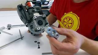 How to remove and install a clutch on a Zenoah engine