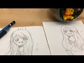 left hand drawing challenge🙌🏻✍🏻
