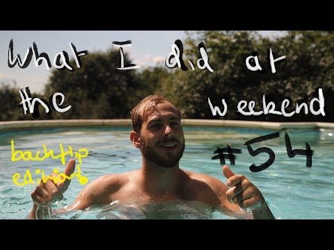 What I did at the weekend 54: Wakeboarding Backflips! Swimming Pool, Games Night