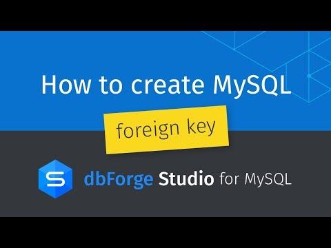 How to define foreign key in mysql workbench