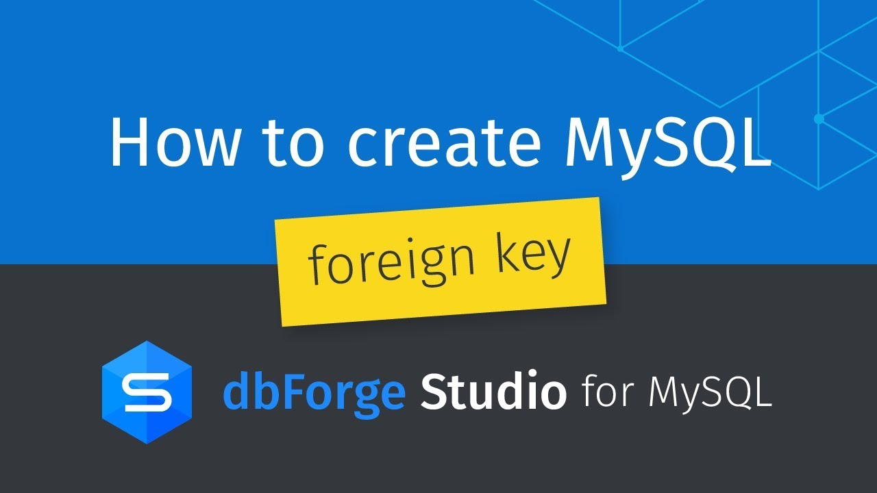 How to create mysql foreign key between two tables youtube how to create mysql foreign key between two tables gamestrikefo Choice Image