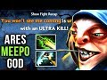 Ares LVL 25 Dotaplus Master Tier Meepo GOD Hex Ethereal Blade Build - EPIC Compilation - Dota 2