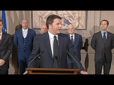 Italy's prime minister designate Matteo Renzi unveils his new cabinet