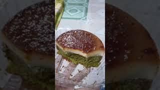 Bánh Flan gato trà xanh