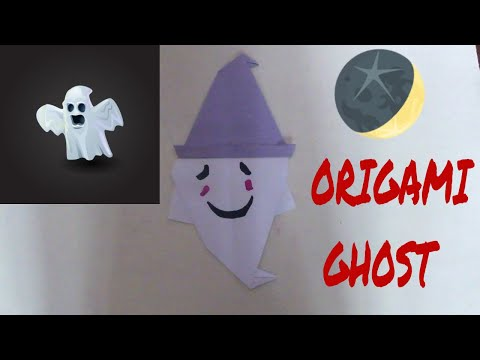How to Make Origami Halloween Ghost | Paper Ghost | Origami Halloween | Origami Easy | DIY