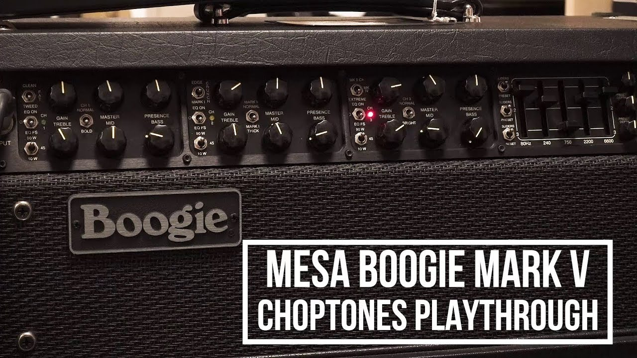 Mesa Boogie Mark V | The ULTIMATE Playthrough (with 6L6 and EL34 tubes)