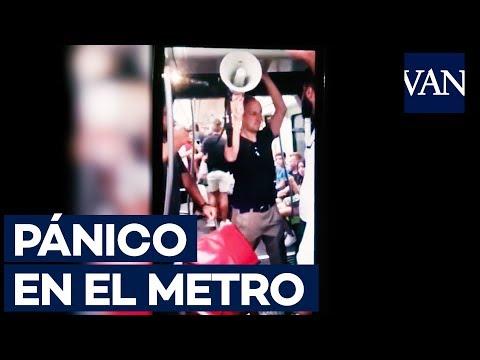 Pánico en el metro de València al realizar proclamas religiosas